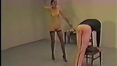 Mistress gets exited from nude caning