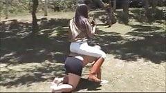 Dominacion femenina. Ama entrena esclavo