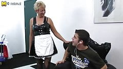 Granny catches her toyboy and fucks him