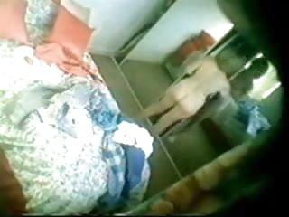 Gorgeous mum caught fully nude in bedroom. Hidden cam