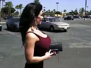 Denise milani adult thumbs - Denise milani walking down the street