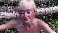 Mature whore in the woods