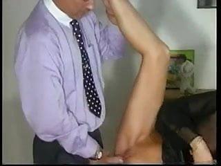 Sandra Foxx-Mature Busty Blonde with 2 Men (Gr-2)