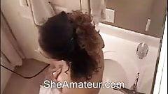 Caught amateur girl masturbating in bathroom