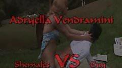 Shemale VS Guy ( Adryella Vendramini)