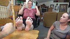 pair of Ladies feet, ticklish