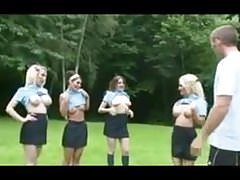 British school girls suck and fuck gym teachers cock