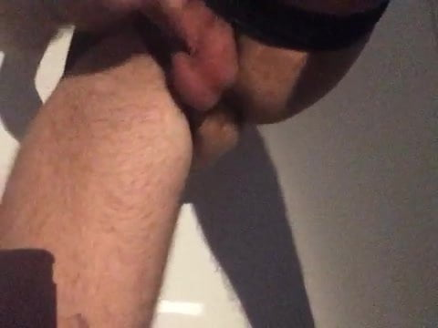 Scorching precum and ass fingering virgin buthole