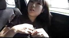 lactating japanese girl in car