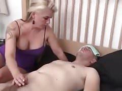 Step Mom gives her sick boy a Handjob
