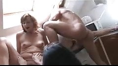 Another four matures fucked by a young cock