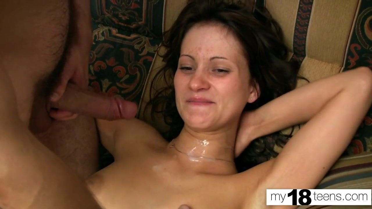 Elegant Euro babe with big tits ravaged by a black dick