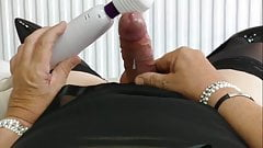 Mature tvrose crossdresser plays with girly cock