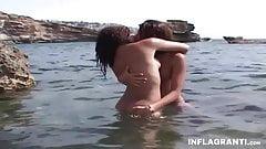 Young German Lesbians At Public Beach