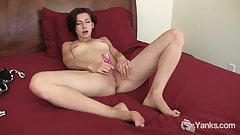 Small Titted Brunette Anja Toying Her Slit