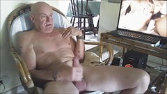 Watching a Japanese porn movie and cumming