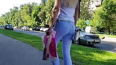 Blonde with hot small ass