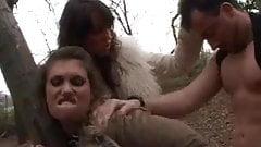 Jane vs Janca - hunt in wood to fuck