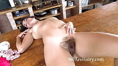 Tiffany strips naked and climbs on her counter
