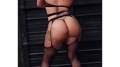 Latin MILF with great ass (nylon, fishnet, high heels, tits)