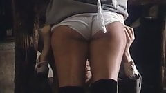 vintage mature woman ass panty bush (mainstream clip)