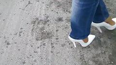 15cm High Heels Pumps - Nylons - Jeans - Walk