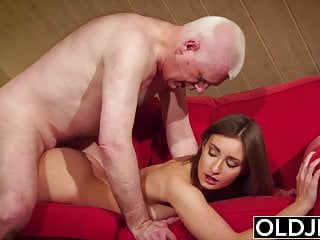 Old And Young Teen Gives Grandpa Hard Erection Then Fuck