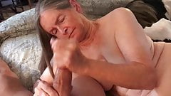 Grandma says cum makes her giggle