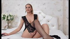 blond in body lick her nylon feet.'s Thumb