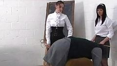 Caned on shorts by Ms Bainbridge & Miss Parsons's Thumb