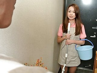 Japanese cleaning lady Nanako Misaki is ready for dick ridin