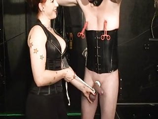 German redhead Mistress trains new slave to the whip part2