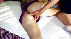Stranger fingering wife's pussy before he fucks her