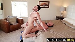 Alex flips Abel around thrusting his hard dick in and out