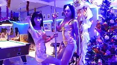 Hot Thai Ladyboys Dancing in Bangkok Club