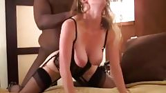 Young wife breeded in black li