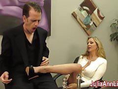 Sexy Milf Julia Ann Milks Him on Date Night!
