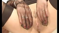 Clara sexy stocking teaser
