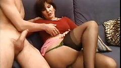 Milf in Stockings Makes Love