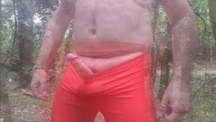 RED LYCRA SHORTS