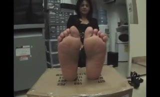 Polish milf sexy candid feet