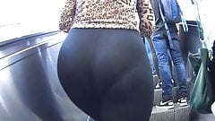 Teen in see thru leggings panties