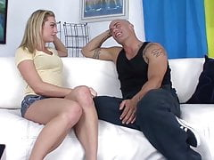 Dahlia Sky gets fucked by Derrick Pierce on the couch