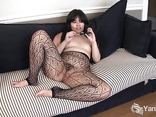 Yanks Asian Hermine Haller Toys Her Bushy Snatch