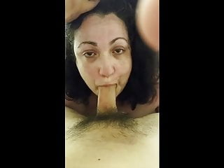 BBW sucks and fucks until she gets cum out.