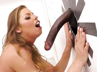 Britney Amber Tries Interracial Anal Sex At A Gloryhole