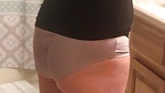GILF MILF WIFE JAN IN TAN PANTIES UNAWARE  #12