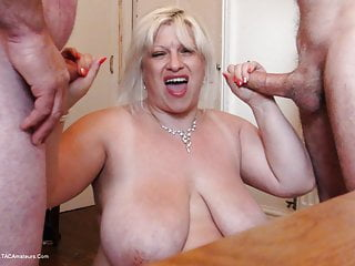 Big tit british housewive Gine George gets double fucked