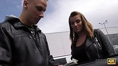 HUNT4K. Man picked up it`s very HOT tie Victoria Daniels and fucked...
