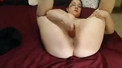 Nympho Slut Chubby Teen GF masturbating like crazy